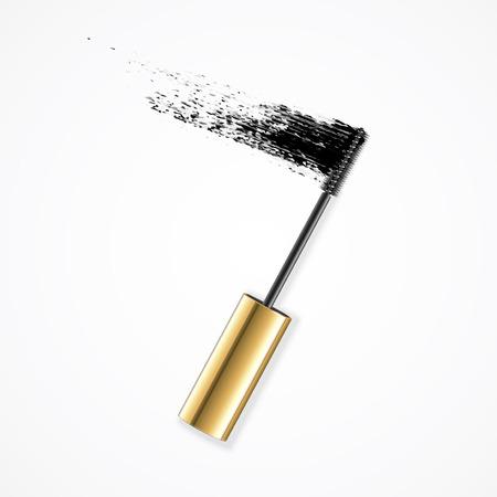 Realistic Mascara Brush Strokes. Vector