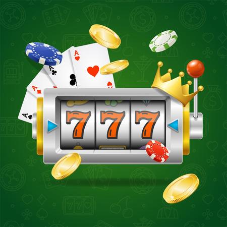Casino Concept Slot Machine.