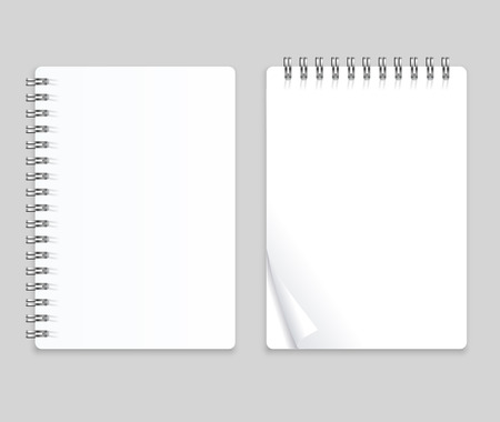 Realistic Note Template Blank Set.