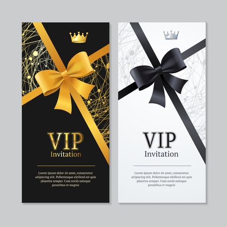 Vip Invitation and Card Set.