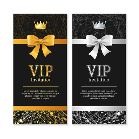 royal background: Vip Invitation and Card Set. Vector Stock Photo