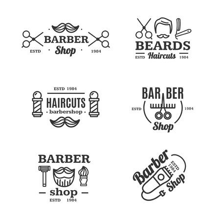 barber shop: Barber Shop Emblems Set. Vector