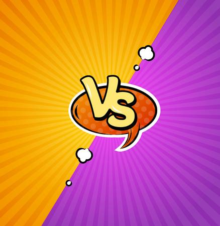 Versus Logo Achtergrond. Vector
