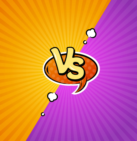 Versus Logo Background. Vector Illustration