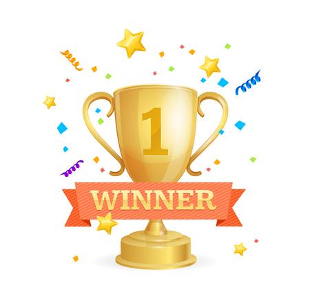 triumphant: Winner Success Achievement Concept. Vector