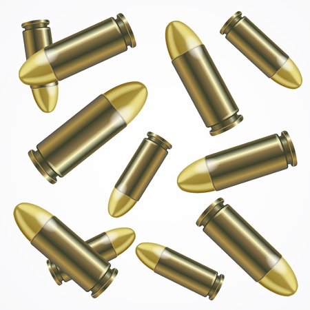 Realistic Bullet Pattern Background. Vector Illustration