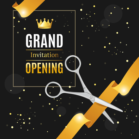 Grand Opening Invitation Card. Vector Stock Photo
