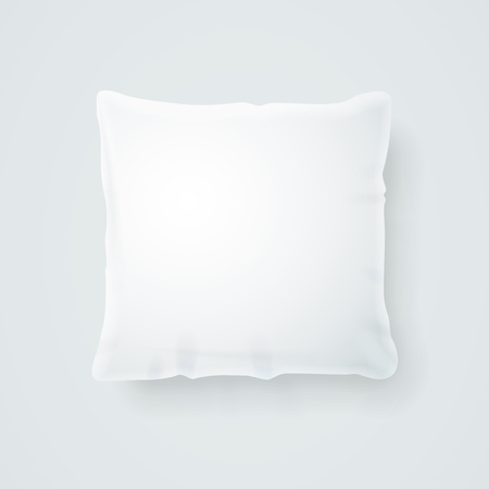 Realistic detailed 3d template blank white pillow mock up vector illustration