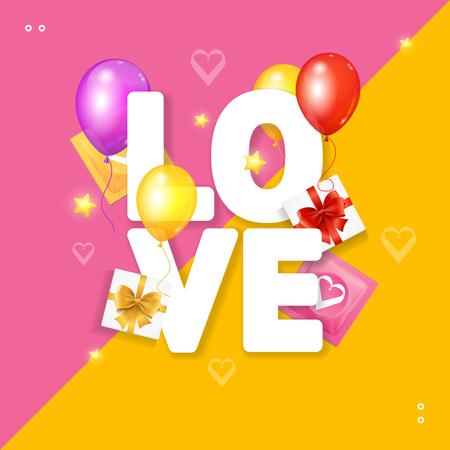 Love Card Concept Vector