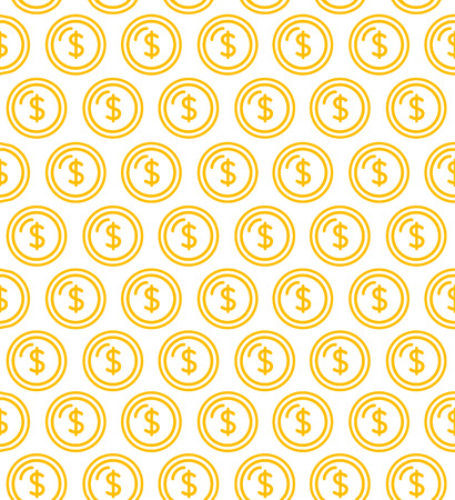 Coins Signs Seamless Pattern Background. Vector. Illustration
