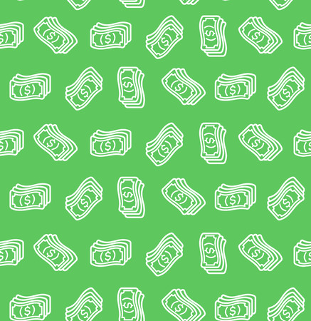 Money signs seamless pattern background.