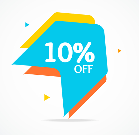 Sale Banner Sticker Abstract Geometric Design for Promotion, Marketing and Advertising Product. Vector illustration of Special Discount Standard-Bild - 114836026