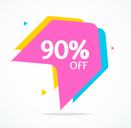 Sale Banner Sticker Abstract Geometric Design Best Percent for Shopping Clothing Concept. Vector illustration of Special Discount