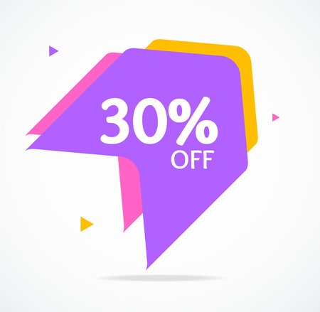 Sale Banner Sticker Abstract Geometric Design for Retail Business and Fashion Commerce. Vector illustration of Special Discount Standard-Bild - 114725941