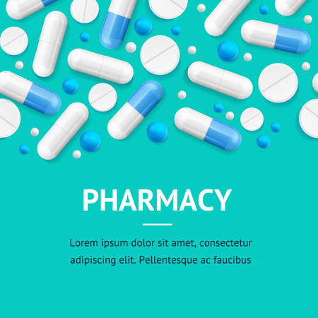 Pharmacy Therapy Flyer Banner Posters Card. Vector