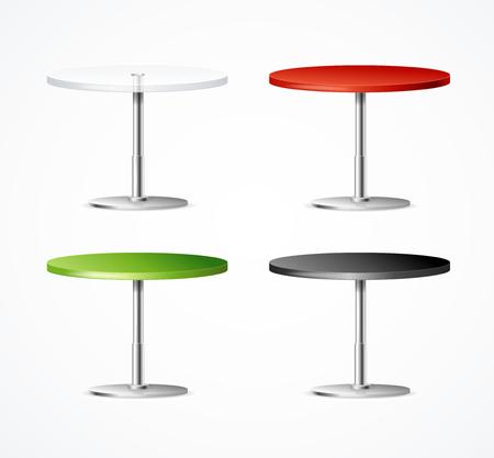 Realistic 3d Detailed One Leg Table Restaurant Set. Vector Standard-Bild - 112368571