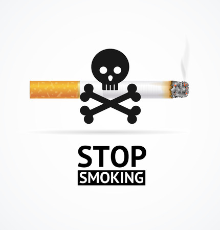 Realistic 3d Detailed Stop Smoking Concept Banner Card. Vector