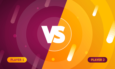 Abstract Color Background with Versus Sign. Vector