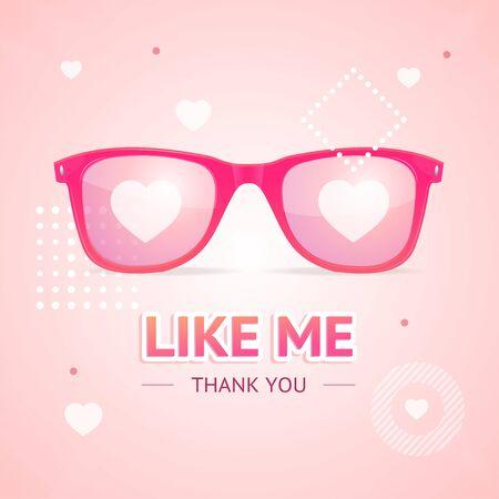 Like Me Thanks You Social Media Concept. Vector