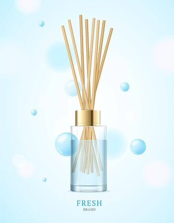Realistic Detailed 3d Aromatherapy Fresh Concept. Vector 向量圖像