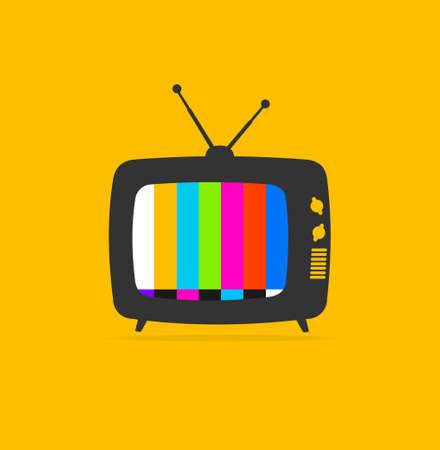 Cartoon Color Retro Tv. Vector