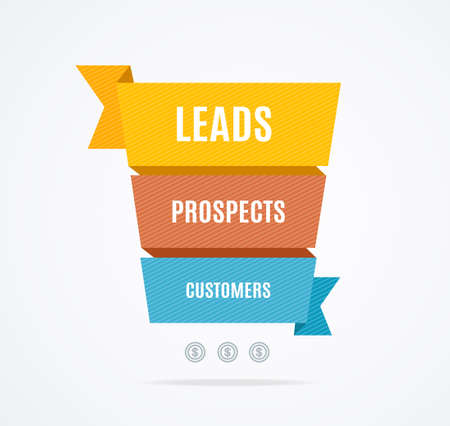 Sales Funnel Banner Concept Ad Poster Card. Vector