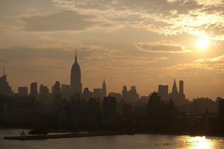 New York skyline at dawn photo