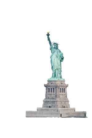 liberty statue: Statue Of Liberty Isolated On White Background