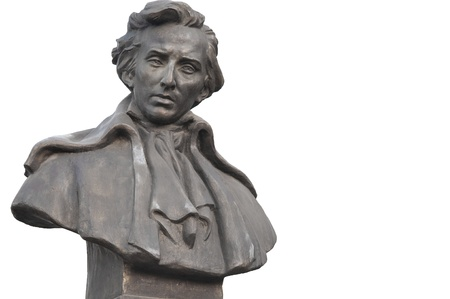 frederic chopin monument: Bust Of Frederic Chopin Editorial