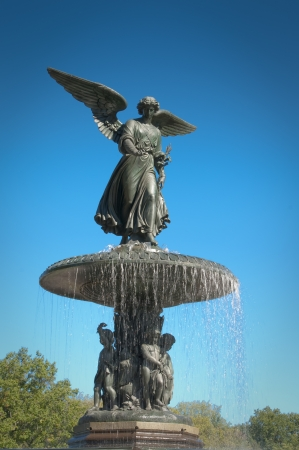 angels fountain: Angel of the waters in central park