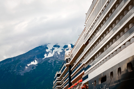 Docked cruise ship in Alaska photo