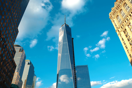 The new World Trade Center in lower Manhattan