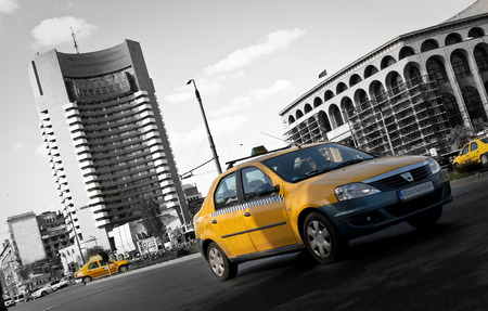 inter: Yellow Taxi in Bucharest