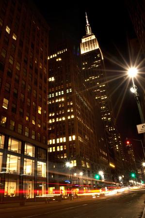 busy street: New York street at night