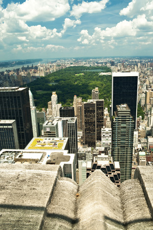arial view: Arial view of the central park