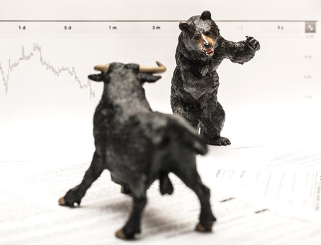 bears: Bull Vs Bear stock market concept Stock Photo
