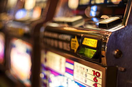 The bill acceptor of a slot machine Standard-Bild