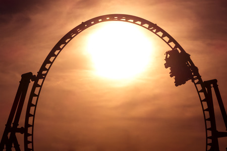Silhuette of a rollercoaster