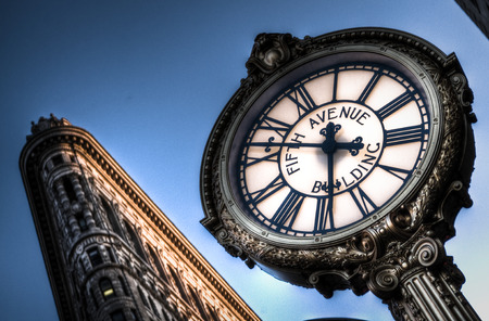 The clock at 5th ave Stockfoto