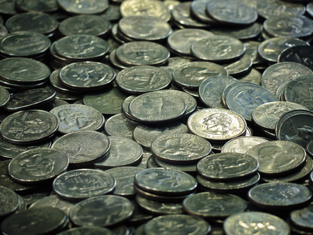 25 cents: A bunch of quarters