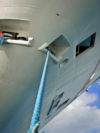 hull: The hull of a cruise ship Stock Photo
