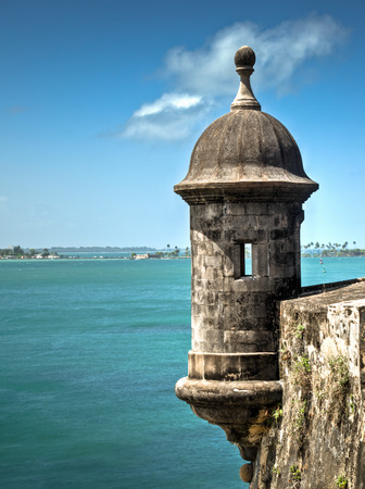 The old fort in San Juan named Castillo San Felipe del Morro, Puerto Rico Редакционное