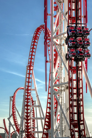 thrill: Red rollercoaster