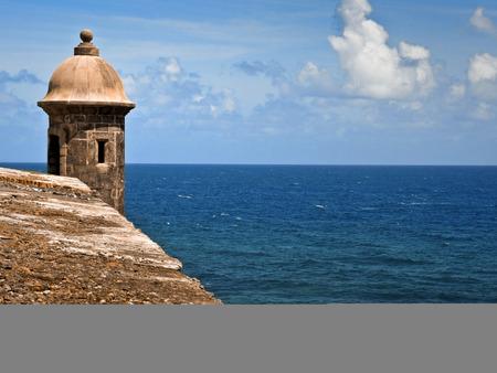 The old fort in San Juan named Castillo San Felipe del Morro, Puerto Rico Redactioneel