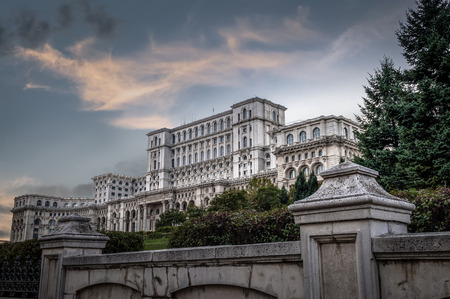 """translates: Casa Poporului translates to """"People's House"""" is Europes largest administrative building and it houses the Romanian parliament and it was build by the late communist dictator Nicolae Ceausescu in Bucharest, Romania."""