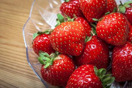 healthy snack: Macro image of strawberries