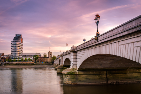 Putney bridge is connecting Fulham to Putney across the river Thames, is the only bridge in britain to have a church at each end (St. Mary's Church, Putney to the south and All Saints Church, Fulham to the north)