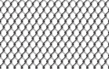 Seamless iron net illustration. metal net fence background.