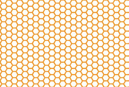 Bezszwowe tło o strukturze plastra miodu. Prosty wzór plastra miodu pszczół. Ilustracja. Wektor. Nadruk geometryczny