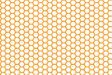 Honeycomb seamless background. Simple seamless pattern of bees' honeycomb. Illustration. Vector. Geometric print Çizim